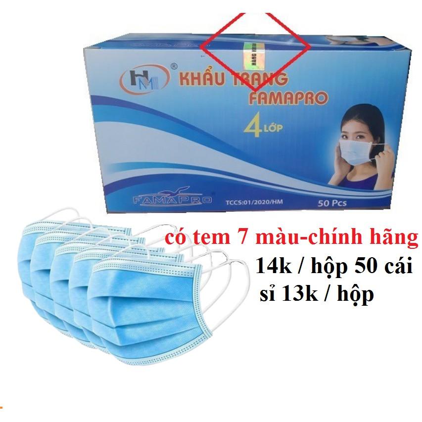 Khẩu trang y tế 4 lớp , khẩu trang y tế kháng khuẩn hộp 50 cái