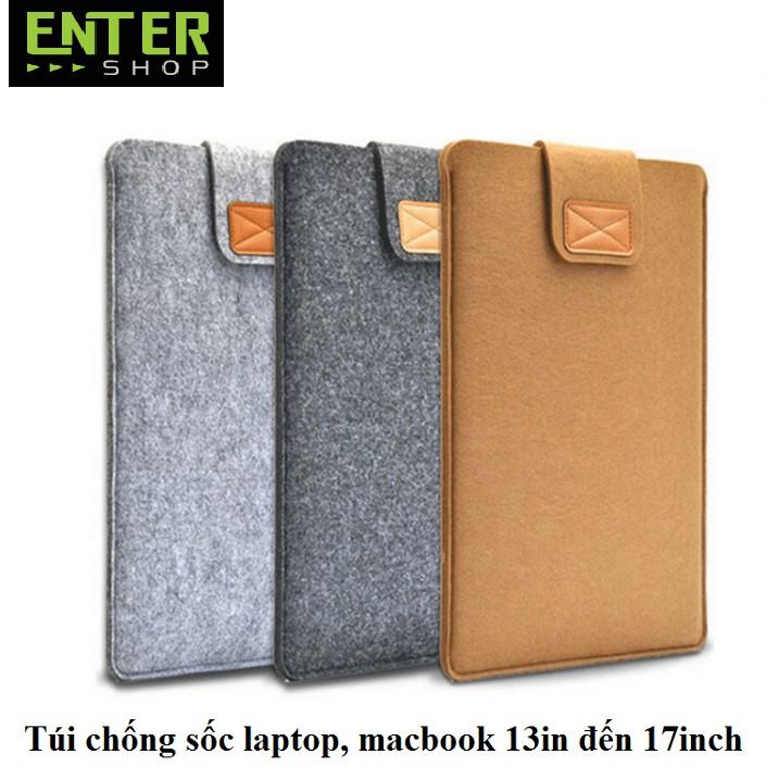 Túi chống sốc Laptop,macbook 13in đến 17inch