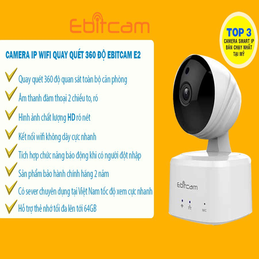 Camera IP Wifi 1MP Ebitcam .. ....
