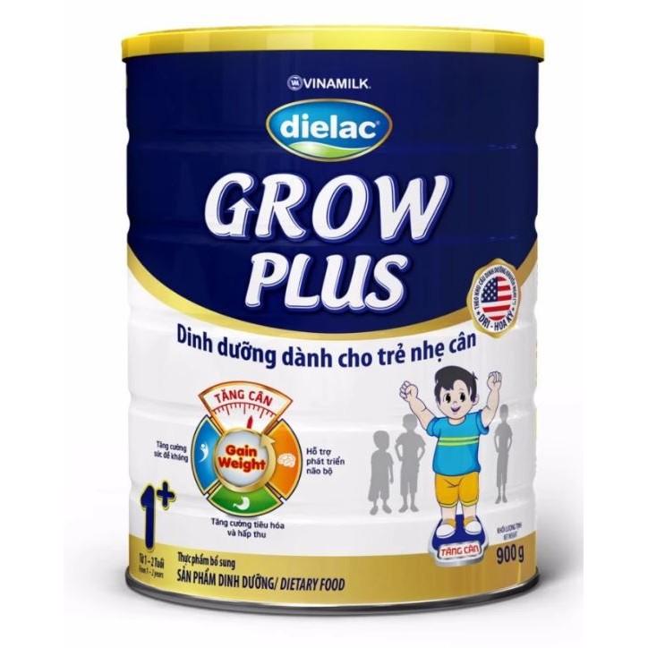 Sữa bột Dielac Grow Plus 1+ (Màu xanh) - Hộp thiếc 900g