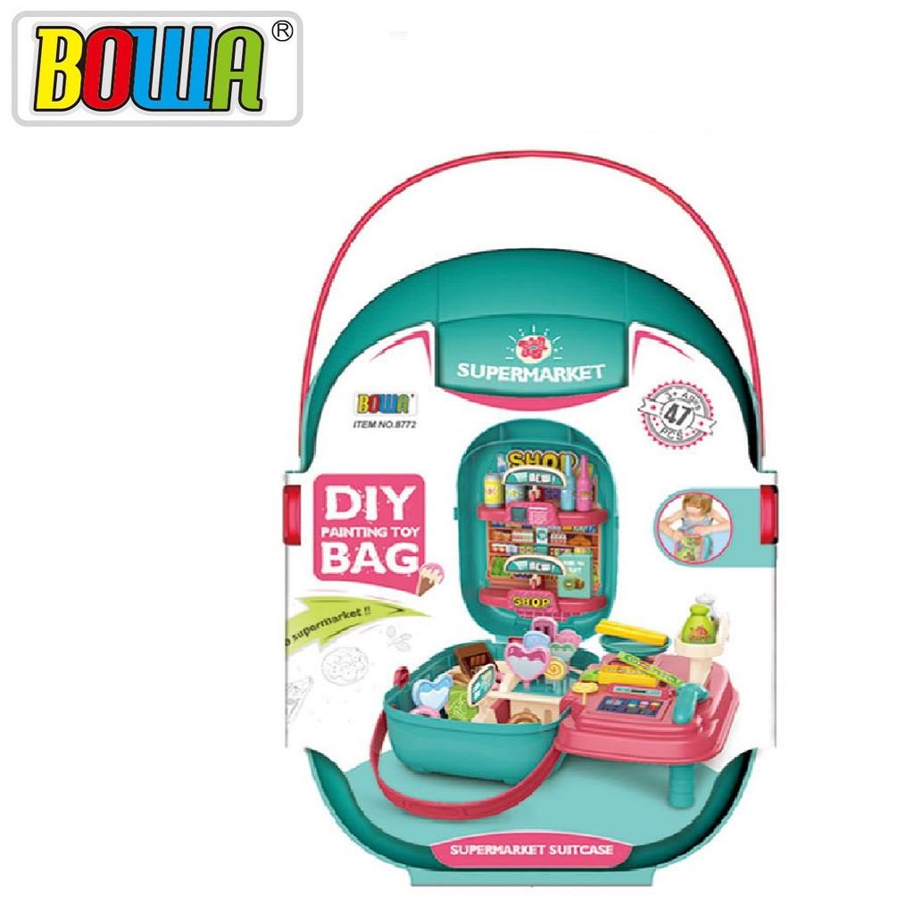 Bộ đồ chơi nhập vai BOWA 8772- Bộ siêu thị 47 chi tiết