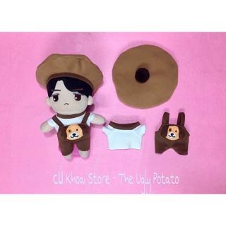 Bộ yếm thú cho doll – Outfit cho doll 20cm