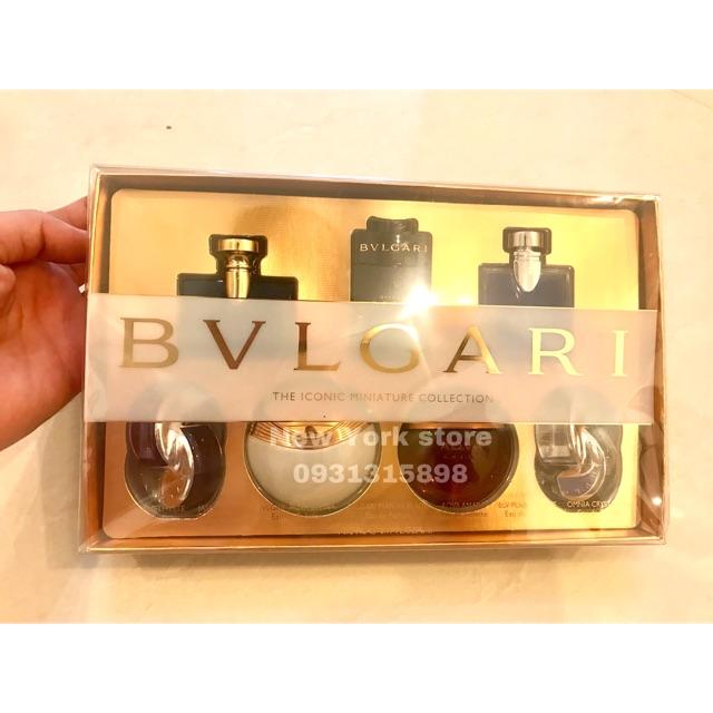 Set 7 chai nước hoa BVLGARI 5ml