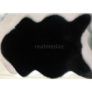 Super Soft Washable Shiny Imitation Wool Carpets Floor Chairs Bedroom Furry Mat Living Room Blanket Artificial Sheepskin