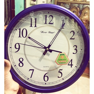 Đồng hồ tròn xanh