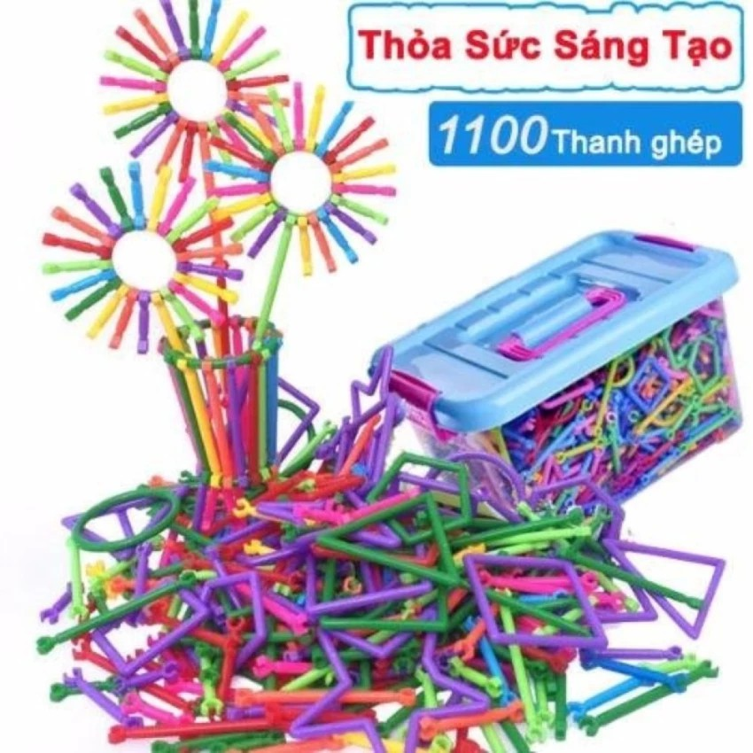 Bộ lắp ghép đồ chơi sáng tạo (1100 Thanh ghép) - 3096304 , 411048480 , 322_411048480 , 220000 , Bo-lap-ghep-do-choi-sang-tao-1100-Thanh-ghep-322_411048480 , shopee.vn , Bộ lắp ghép đồ chơi sáng tạo (1100 Thanh ghép)
