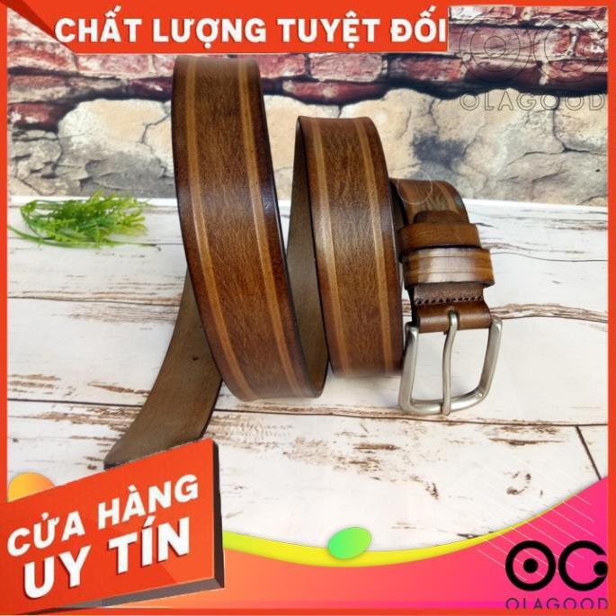 Dây Nịt Nam Da Bò Ý Nâu Xám– TLY011B