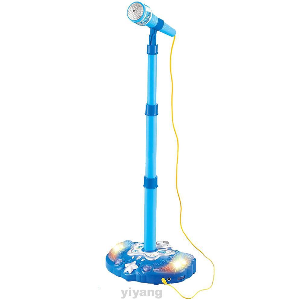 Đồ chơi micro có giá đỡ đứng đèn nhiều màu cho bé