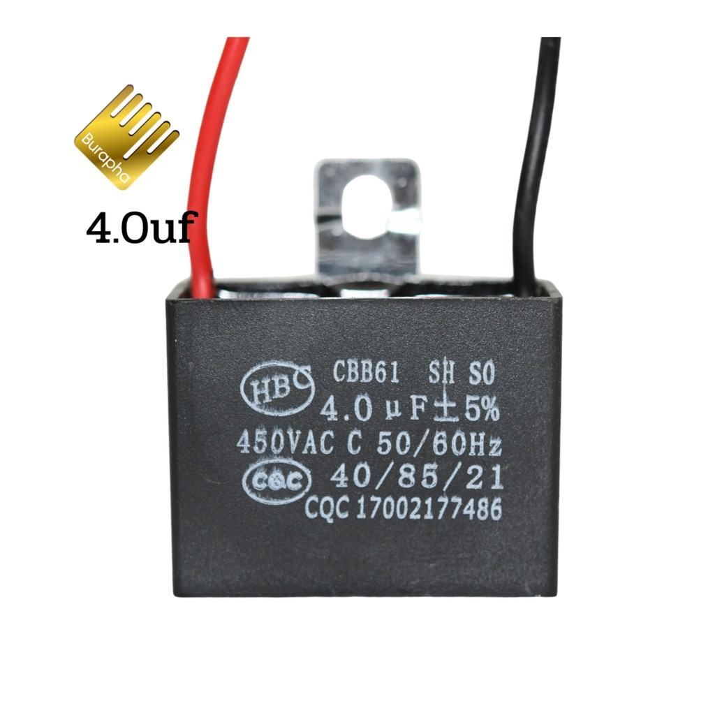 คาปาซิเตอร์พัดลม  Capacitor  Cพัดลม 1.0 1.2 1.5uf  1.8uf 2.0uf 3.0 4.0 5.0 6.0uf 450V
