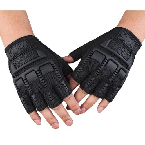 Găng tay, bao tay nam cụt ngón bảo vệ mu bàn tay và tăng độ bám Mechanix Mpact