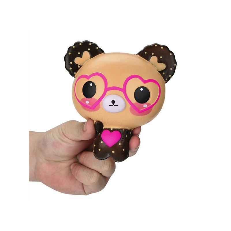 11.5CM Jumbo Cute Bear Doll Squishy Toy Cartoon Love Heart Slow Rising Squishy M