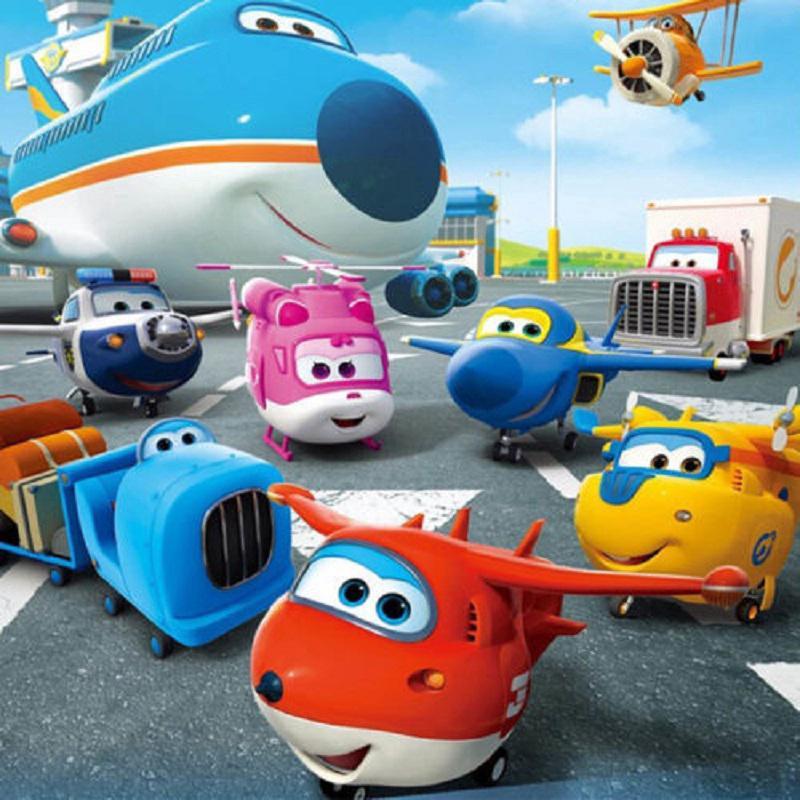 Set 8 máy đồ chơi mô phỏng theo phim hoạt hình đội bay siêu đẳng cho bé