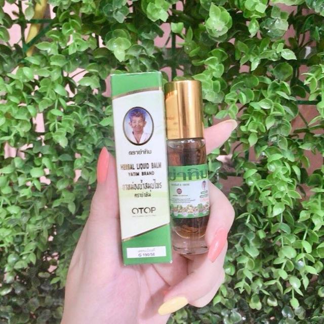 Dầu lăn nhân sâm Thái Lan 22 vị hiệu Ông già Herbal Liquid Balm Yatim Brand