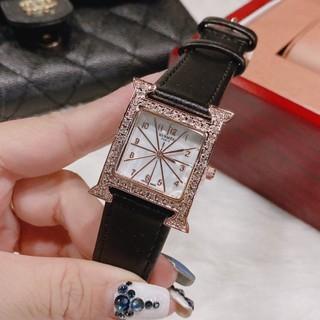 Đồng hồ nữ hermes mặ vuông, hàng full box, thẻ bảo hành 12 tháng - Dongho.HM thumbnail