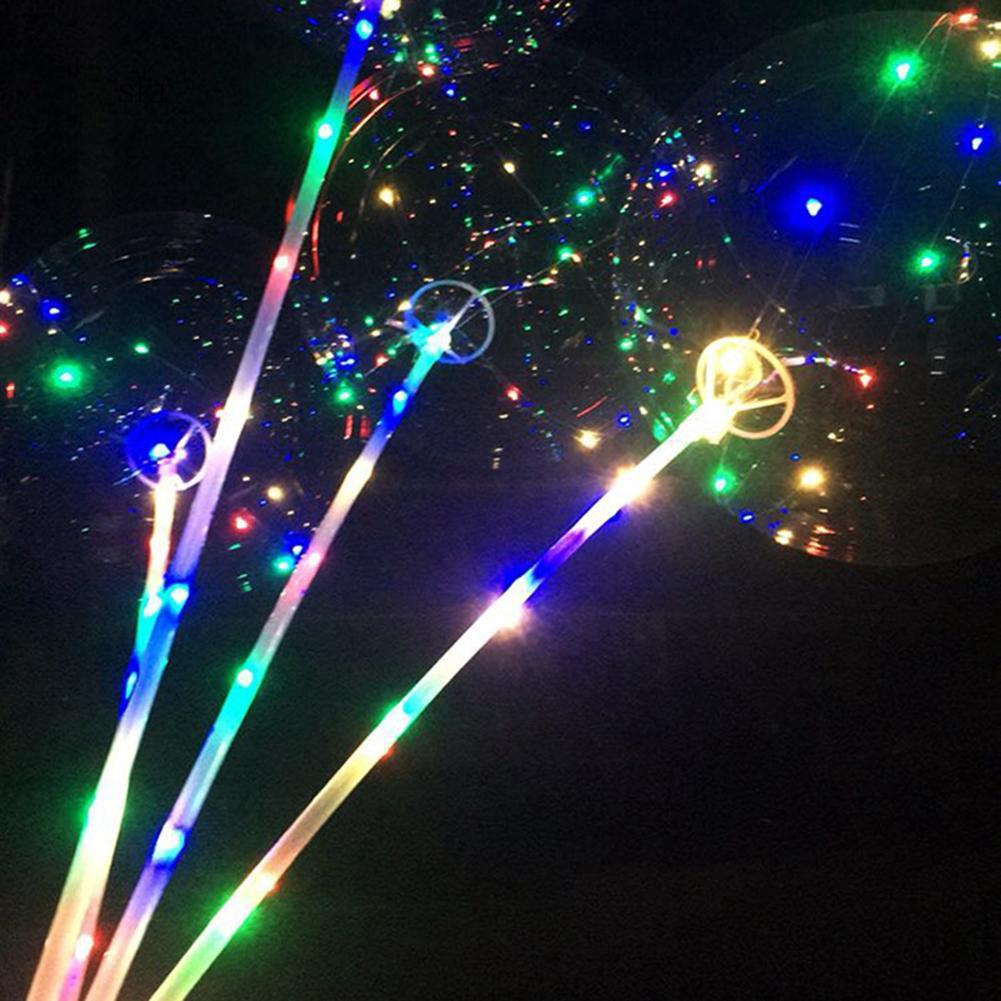 SKR♛18 Inch Luminous LED Balloon Transparent Round Bubble Party Wedding Decoration