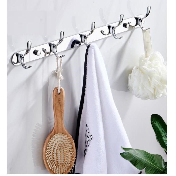 Móc treo quần áo inox 304 gắn tường không cần khoan
