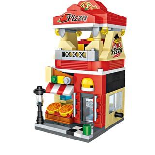 Đồ chơi lắp ráp trẻ em Nhà hàng Pizza LOZ 1628 (335 chi tiết)