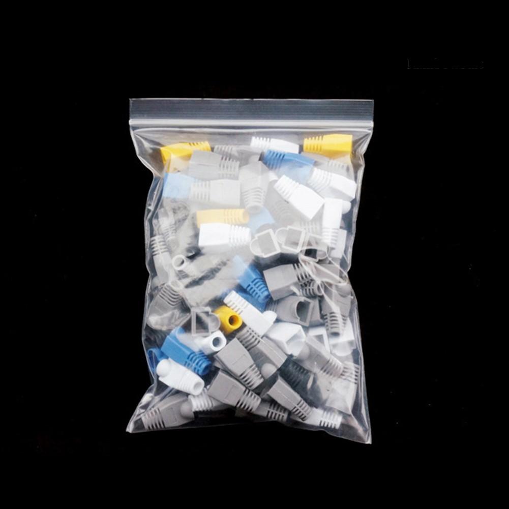 Set 100 Nắp Nhựa Bảo Vệ Dây Cáp Mạng Rj45 Tiện Dụng