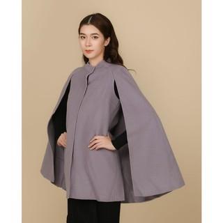 Áo măng tô tím lông cừu cổ tàu Elise thumbnail