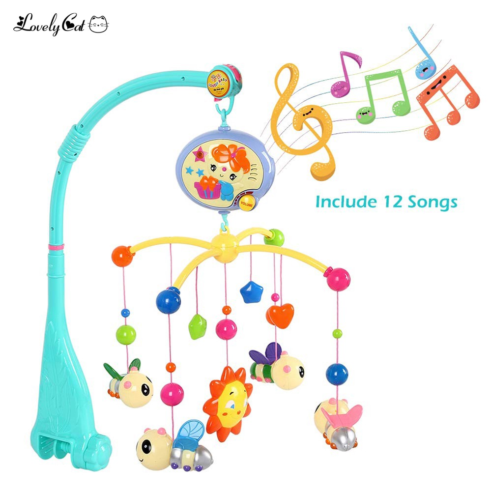 Baby Crib Bed Cot Mobile Pendants Nusery Lullaby Toy