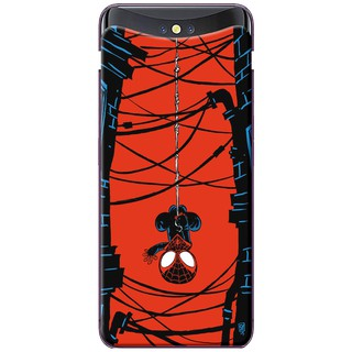 Ốp lưng nhựa dẻo Oppo Find X Người nhện treo ngược