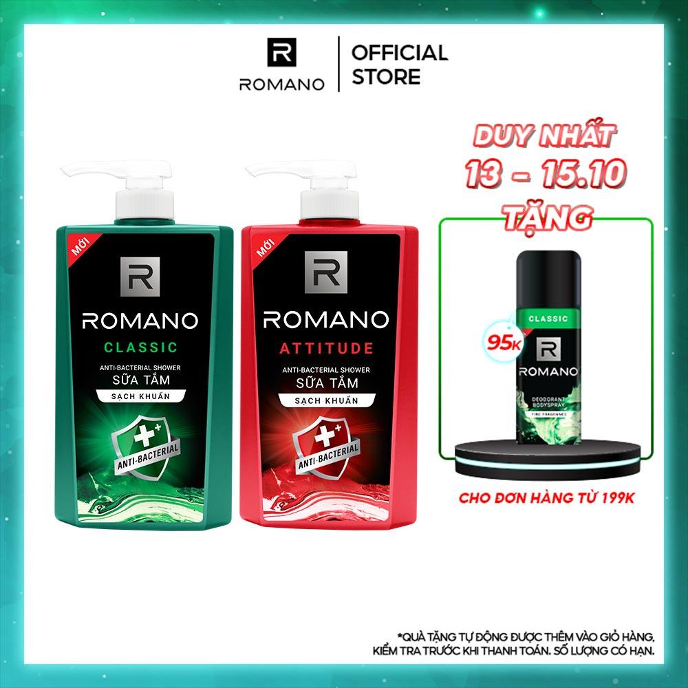Sữa tắm sạch khuẩn Romano 650g