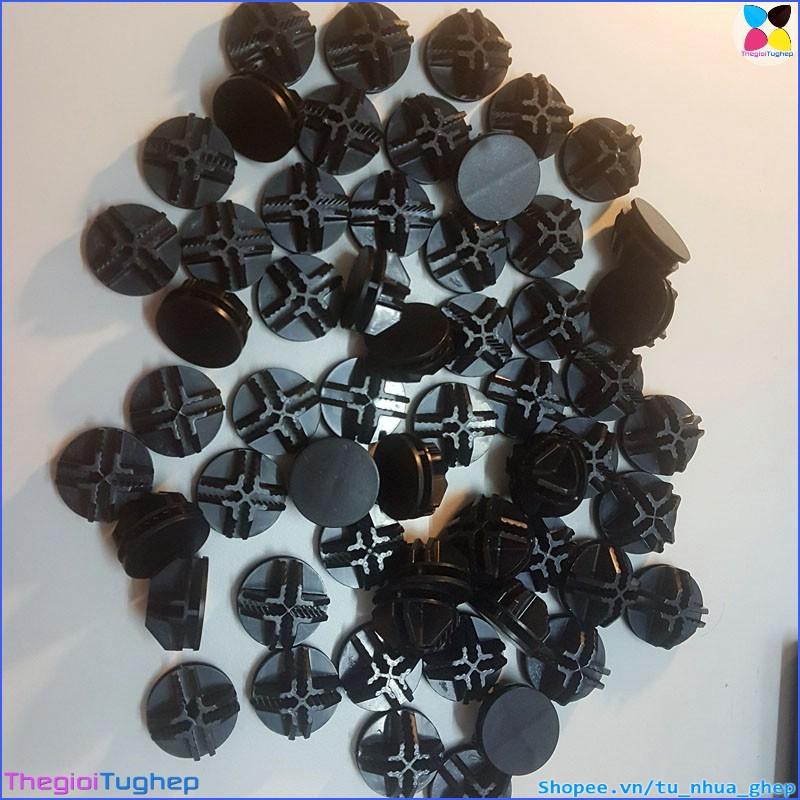 Lô 50 cái chốt nối tủ nhựa ghép, tủ ghép lưới thép, chuồng thú cưng (màu đen)