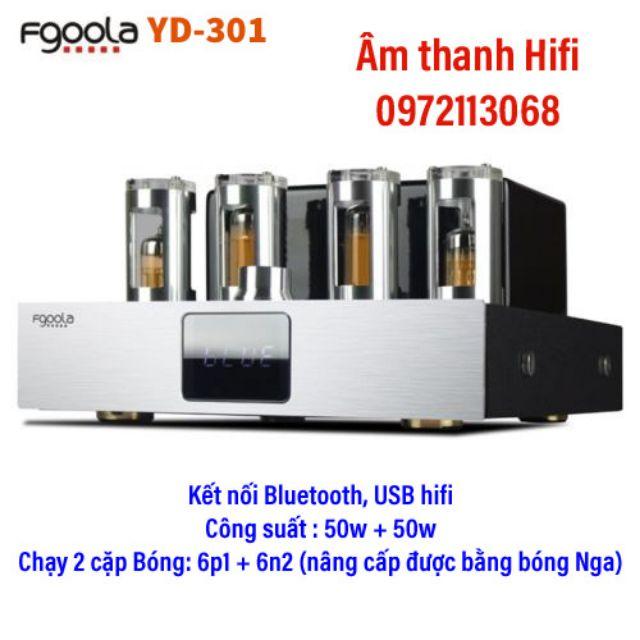 Ampli đèn 2.1 Fgoola YD-301 công suất 100w, âm thanh Hifi , tách bạch , nâng cấp được bằng bóng Nga