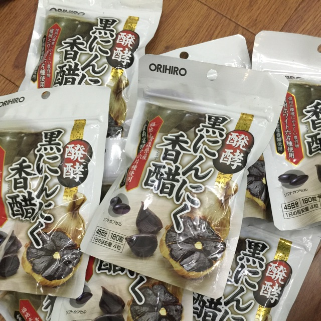 set 5 gói tỏi đen 180v của orihiro