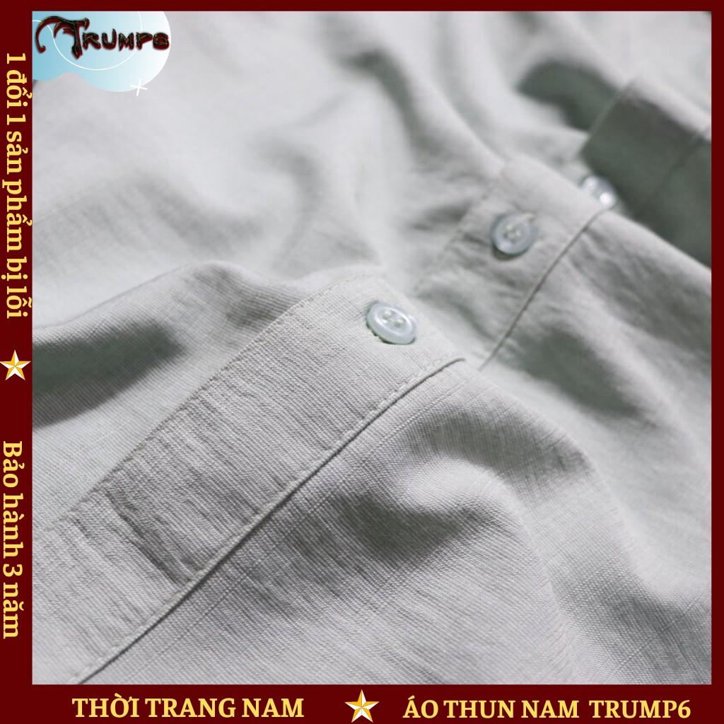 🌟DEAL SỐC🌟 Áo Sơ Mi Nam Dài Tay Chất Vải Đũi Cao Cấp Hàng Xuất Khẩu - 3 Màu TRUMP6