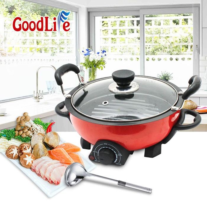 Nồi và bếp lẩu điện GoodLife đa chức năng