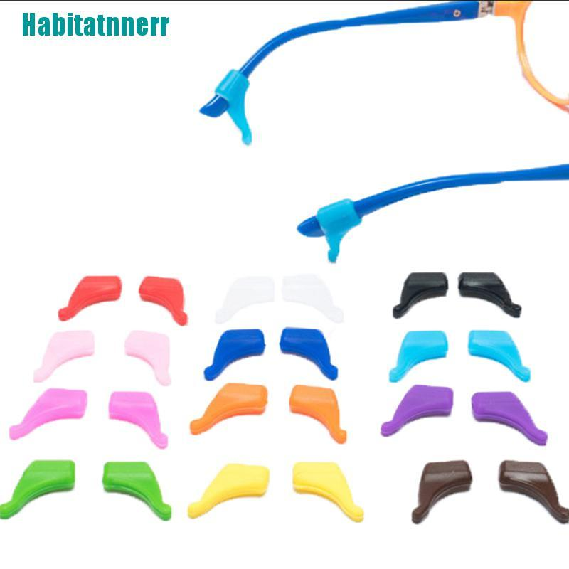 【Habitatnnerr】8PCS Anti Slip Glasses Ear Hooks Tip Eyeglasses Grip Temple Holder Silicone Hot