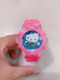 Đồng hồ điện tử trẻ em Doremon, Kitty có đèn và nhạc
