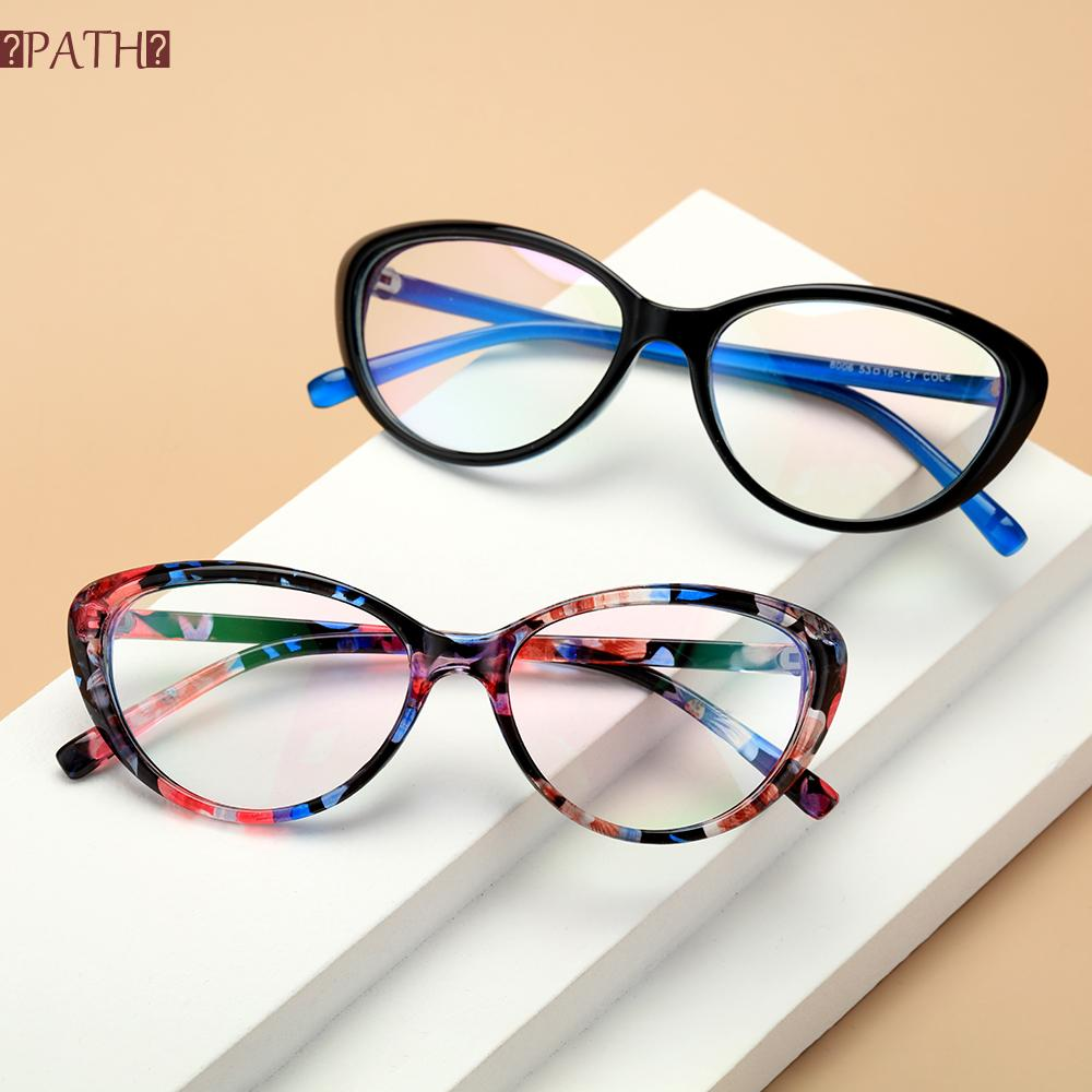 PATH Fashion Blue Light Blocking Glasses Vintage Frame Goggles Computer Gaming Glasses Vision Care Anti Eyestrain UV400 Protection Women and Men Eyewear