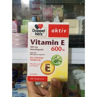 Đồ uống Vitamin E 600 hộp 40 viên của Doppelherz