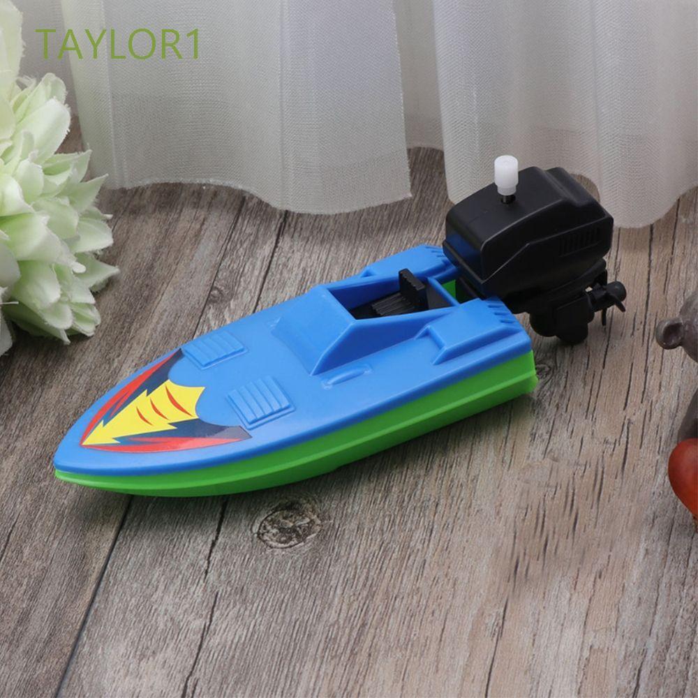 Thuyền Đồ Chơi Bằng Nhựa Lên Dây Cót Nhiều Màu Sắc Cho Trẻ Em Taylor1