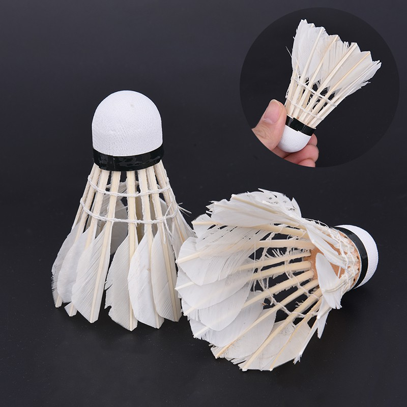 12pcs/lot Shuttlecocks Feather Outdoor Sports Badminton Accessories