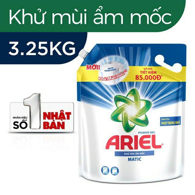 Nước giặt Ariel khử mùi ẩm mốc 3.25kg