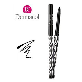 Bút kẻ mắt dạng sáp vặn Dermacol Matt black matte eye pencil 4.3g