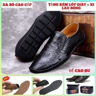 [QUÀ TẶNG NHÂN ĐÔI] Giày lười da nam da bò bò cấp