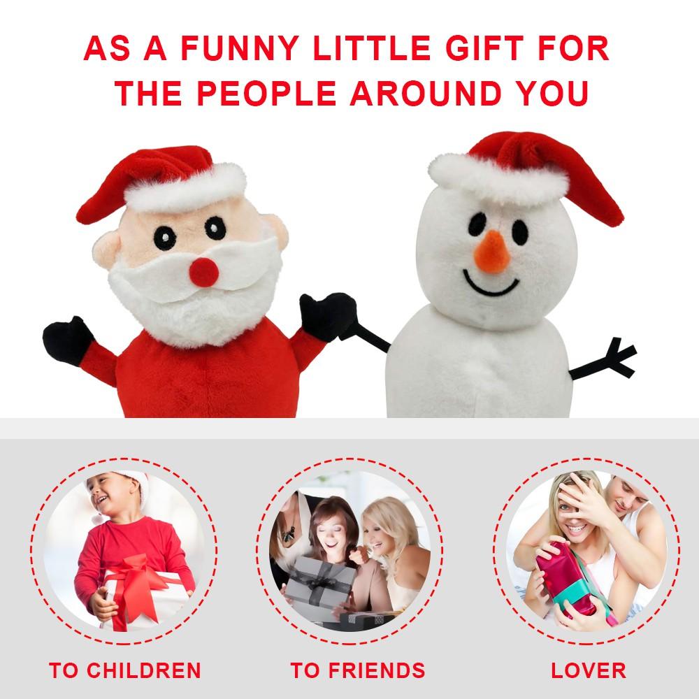 'NEW' Santa Claus Doll Double-sided Flip Father Christmas Snowman Plush Doll Xmas Christmas Decor Kid Toy Gift iWN