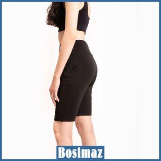 Quần Legging Nữ Bosimaz MS321 ngắn túi trước màu đen cao cấp, thun co giãn 4 chiều, vải đẹp dày, thoáng mát. thumbnail