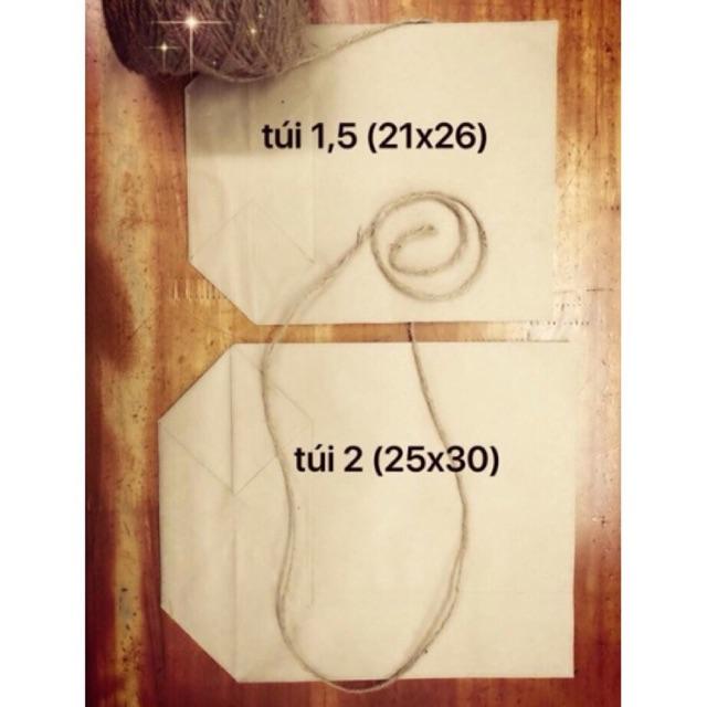 Combo 100 túi giấy xi măng gói hàng loại 1.5 và túi 2