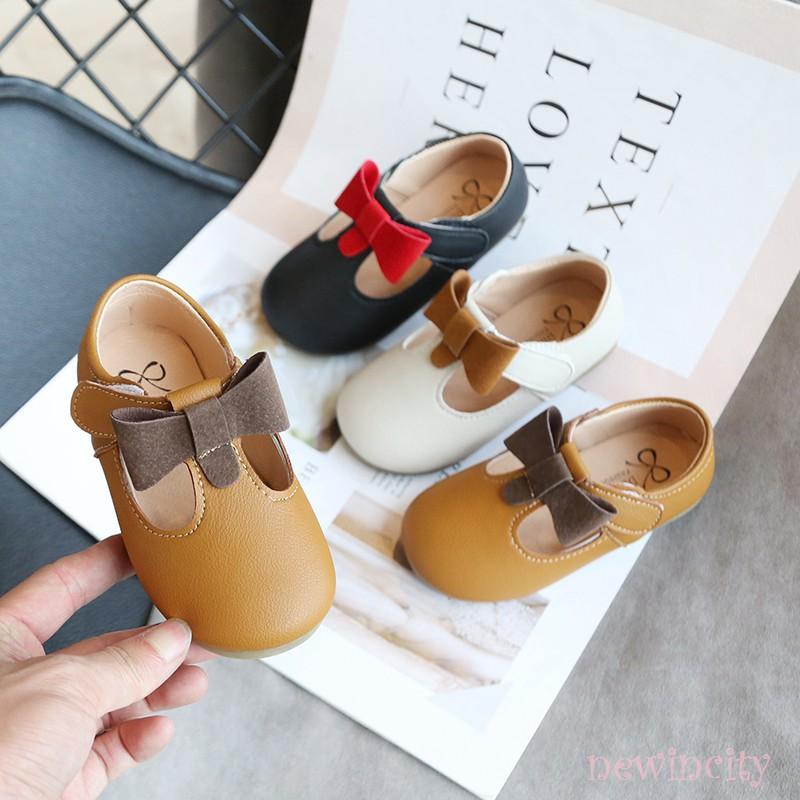 Giày Búp Bê Đế Mềm Phong Cách Hàn Quốc Cho Bé Gái