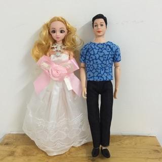 [HCM][Có sỉ từ 2sp] Bộ đồ chơi búp bê cô dâu chú rễ dành cho bé gái bé trai (búp bê trai + búp bê gái)