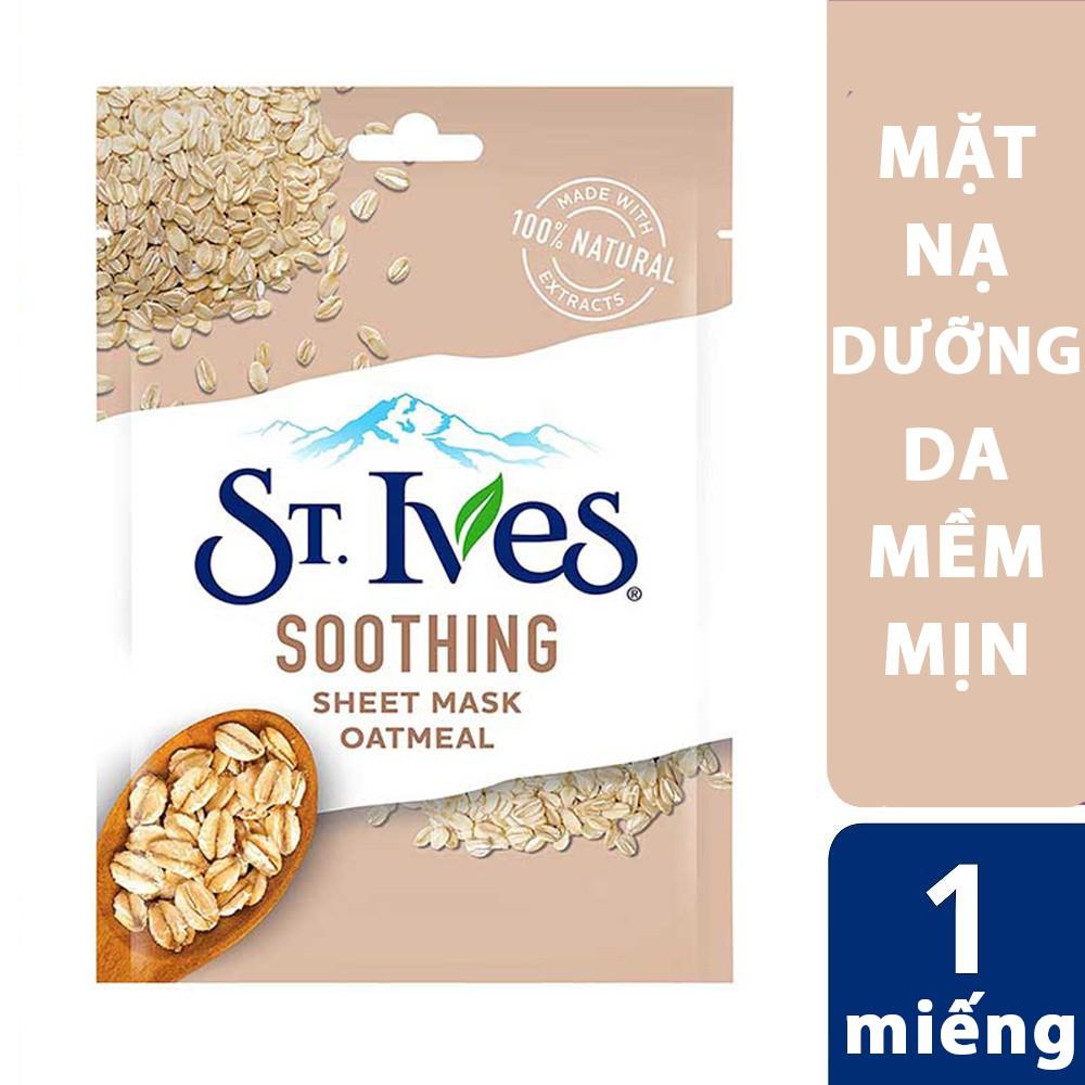 Mặt nạ dưỡng da mềm mịn St. Ives soothing sheet mask oatmeal - 1 miếng