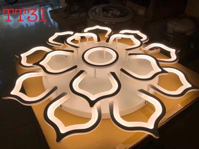 Đèn Ốp Trần Hiện Đại 12 Cánh Sen TT31- 3 Chế Độ