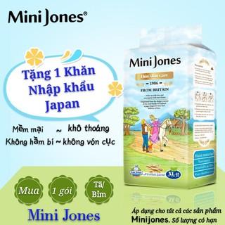 [Tặng khăn mặt]Tã bỉm quần hữu cơ cao cấp Mini Jones L46 XL42 - Hàng nhập khẩu từ Anh Quốc