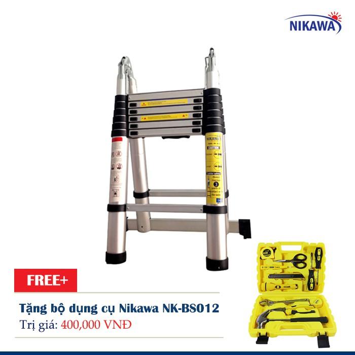 Thang Nhôm rút đơn Nikawa NK-50AI Tặng bộ dụng cụ Nikawa NK-BS012 - 2650871 , 381152211 , 322_381152211 , 3638000 , Thang-Nhom-rut-don-Nikawa-NK-50AI-Tang-bo-dung-cu-Nikawa-NK-BS012-322_381152211 , shopee.vn , Thang Nhôm rút đơn Nikawa NK-50AI Tặng bộ dụng cụ Nikawa NK-BS012