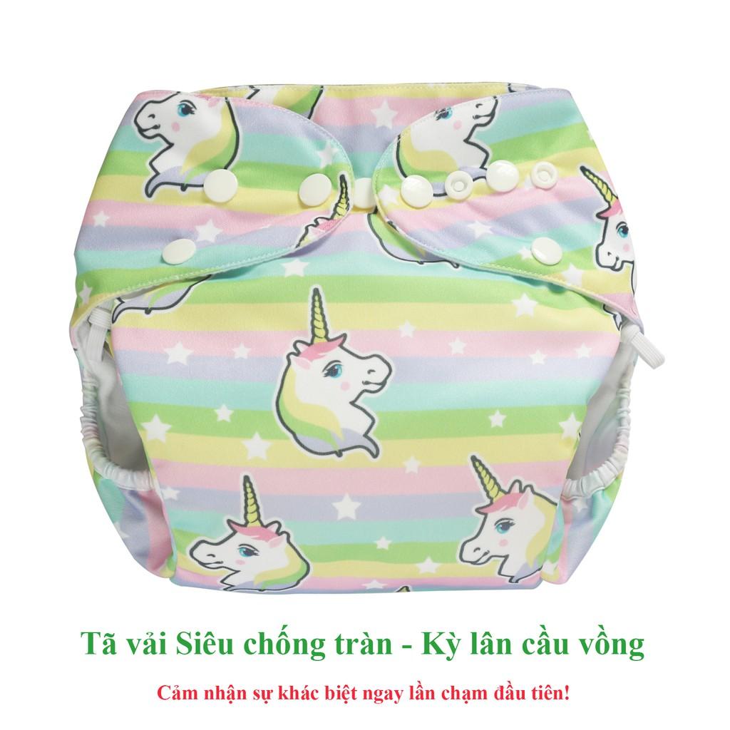 Bộ tã vải Đêm Siêu chống tràn BabyCute S, M, L, XL, XXL (1 Vỏ + 1 Lót) - Giao mẫu ngẫu
